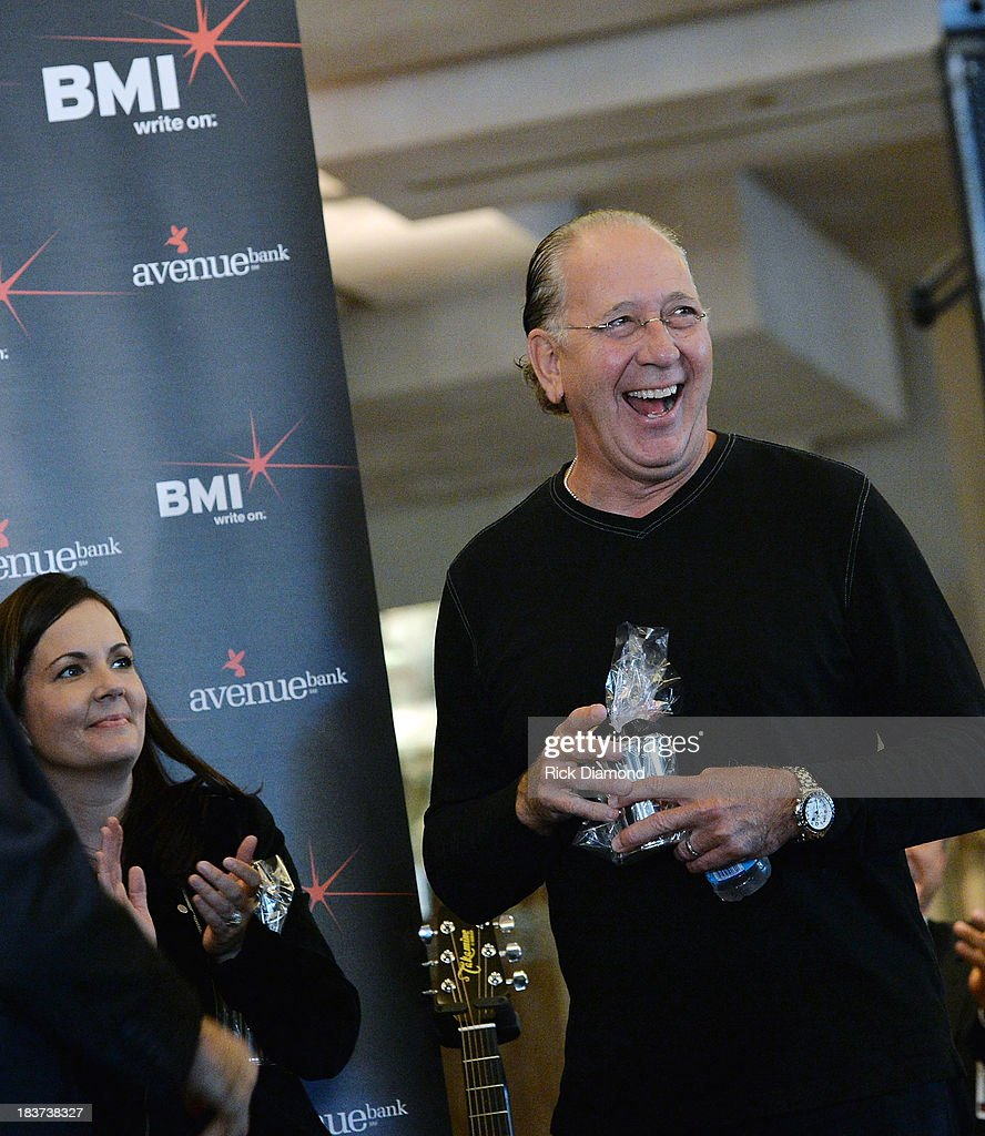 Warner Nashville President John Esposito speaks during BMI and Hunter Hayes Celebration of the No. 1 Song 'I Want Crazy' at BMI offices In Nashville on October 8, 2013 in Nashville, Tennessee.