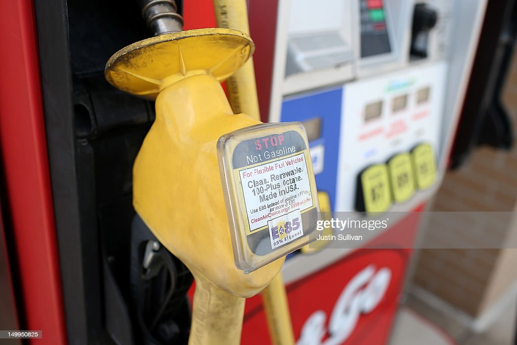 A warning label is posted on an E85 Ethanol pump handle at a Kum and Go gas station on August 7, 2012 in Johnston, Iowa. An exceptionally hot summer and the worst drought in more than a half century has caused cut prospects for the U.S. corn crop to a five-year low and has sent prices up to over $8.00 a bushel in late July trading. The price surge and limited supply has also prompted ethanol plants to voluntarily slow production by 20 percent, a two year low.