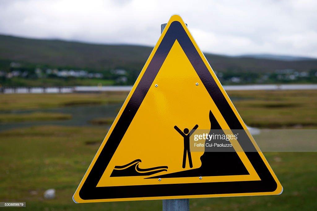 Warning sign at Mulranny-County Mayo Ireland