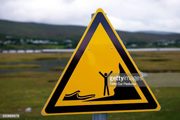 Warning sign at Mulranny-County Mayo Ireland