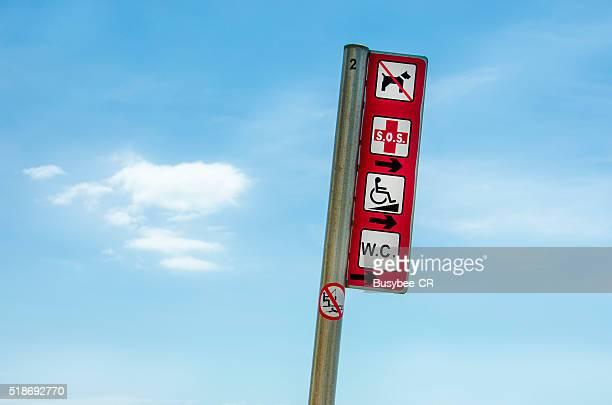 Warning Sign at the Beach