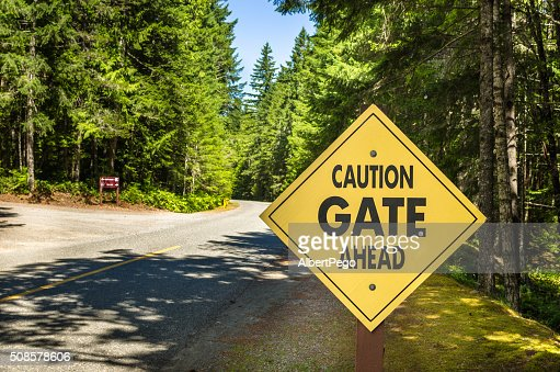Warning Sign at the Entrance of a Park : Stock Photo