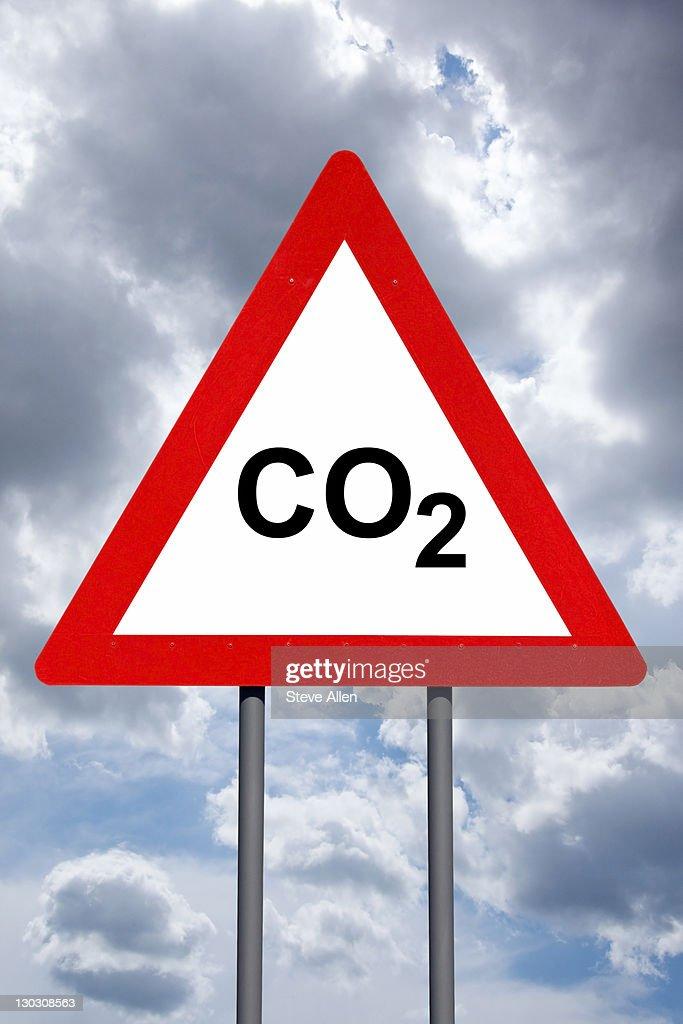 Warning Sign - CO2 : Stock Photo