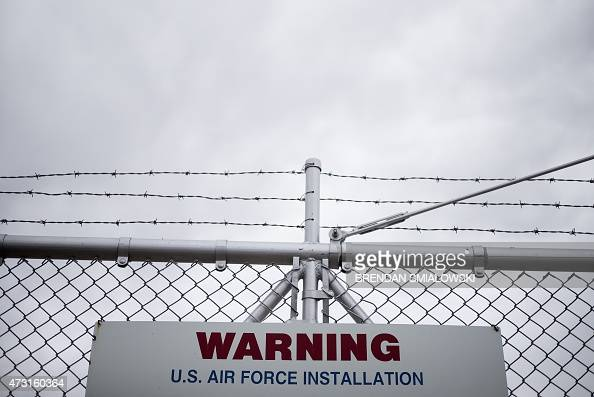 A warning sign is seen along the perimeter of a deactivated Titan II complex at the Titan Missile on May 12 2015 in Green Valley Arizona The museum...