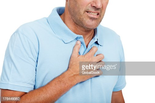 Warning signs of a heart attack : Stock Photo