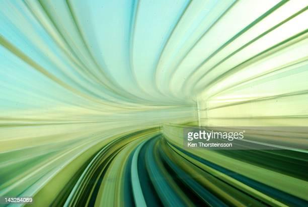 Warp speed in train tunnel