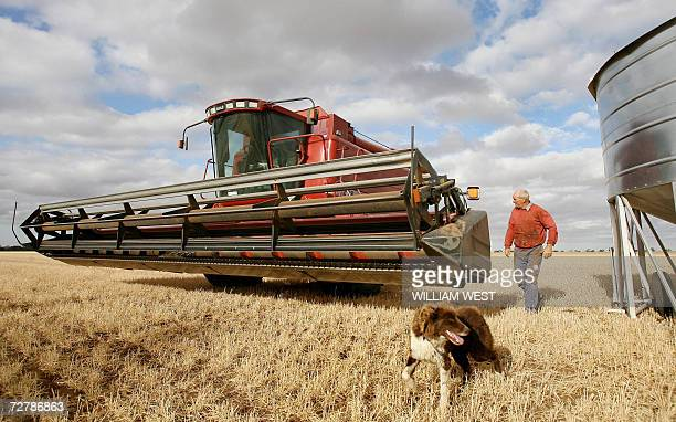 TO GO WITH Australiaclimatedroughtsuicide A farmer inspects his expensive heavy machinery as in the Australian wheat belt area of Wimmera near...