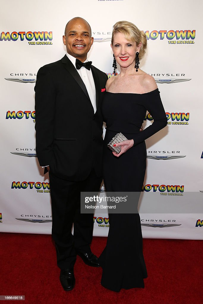 Warren Adams and Patricia WIlcox attend the after party for the Broadway opening night for 'Motown: The Musical' at Roseland Ballroom on April 14, 2013 in New York City.