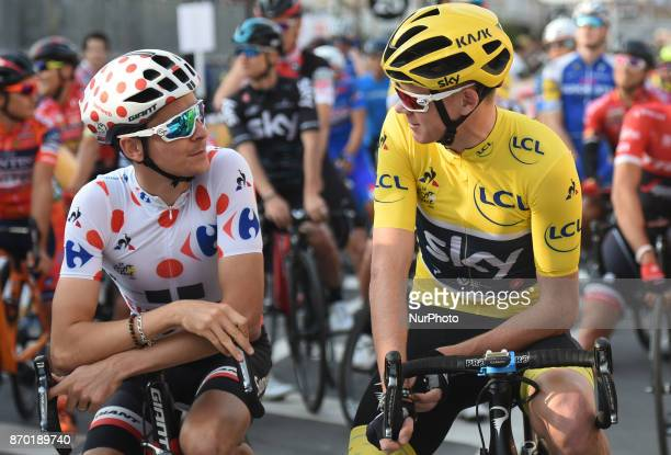 Warren BARGUIL and Christopher FROOME at the start to 589km Main Race during the 5th edition of TDF Saitama Criterium 2017 On Saturday 4 November...