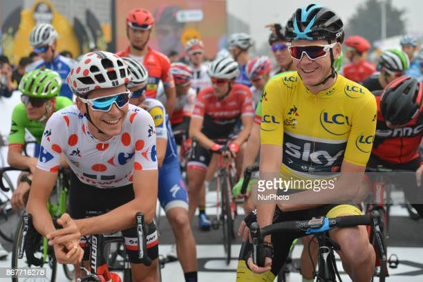 Warren BARGUIL and Christopher FROOME at the start to the 1st TDF Shanghai Criterium 2017 On Sunday 29 October 2017 in Shanghai China