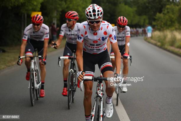 Warren Barguil of France and Team Sunweb in action during stage twenty one of Le Tour de France 2017 on July 23 2017 in Paris France