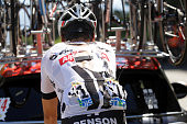 Warren Barguil of France riding for Team GiantAlpecin rejoins the peloton after a crash during stage seventeen of the 2016 Le Tour de France a 1845km...