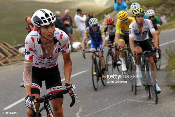 Warren Barguil of France riding for Team Sunweb in the king of the mountains jersey attacks the peloton during stage 17 of the 2017 Le Tour de France...