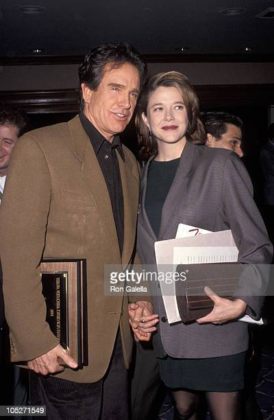 Warren Beatty and Annette Bening during 17th Annual Film Critics Awards at Bel Age Hotel in Los Angeles CA United States