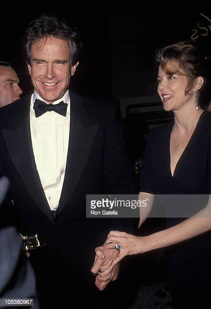 Warren Beatty and Annette Bening during 44th Annual Directors Guild Awards at Beverly Hilton Hotel in Beverly Hills California United States