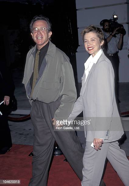 Warren Beatty and Annette Bening during 'Bridges of Madison County' Los Angeles Premiere May 30 1995 at Warner Bros Studios in Burbank California...