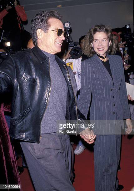 Warren Beatty and Annette Bening during 'Disclosure' Los Angeles Premiere at Mann Bruin Theatre in Westwood California United States