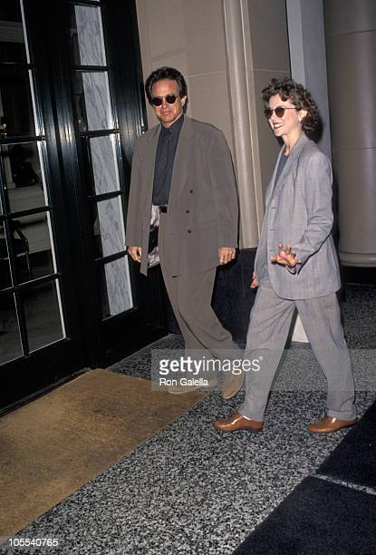 Warren Beatty and Annette Bening during Education First Week Honors CBS Entertainment February 4 1992 at Beverly Wilshire Hotel in Beverly Hills...
