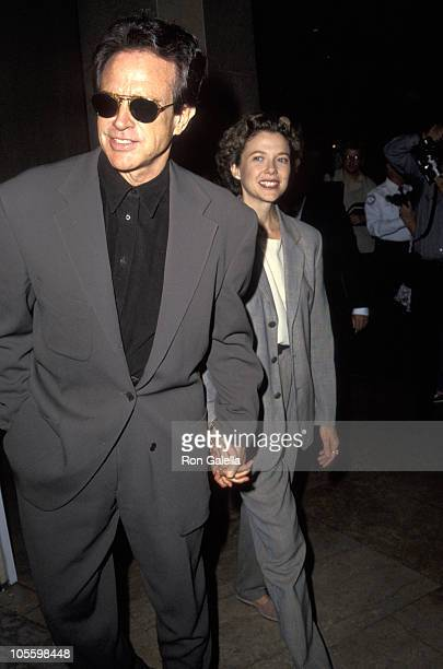 Warren Beatty and Annette Bening during Entertainment Industry Paramount Charities Luncheon September 24 1992 at Beverly Hilton Hotel in Beverly...