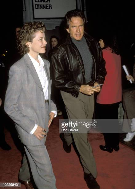 Warren Beatty and Annette Bening during 'Toys' Premiere December 13 1992 at GCC Avco Theater in Westwood California United States