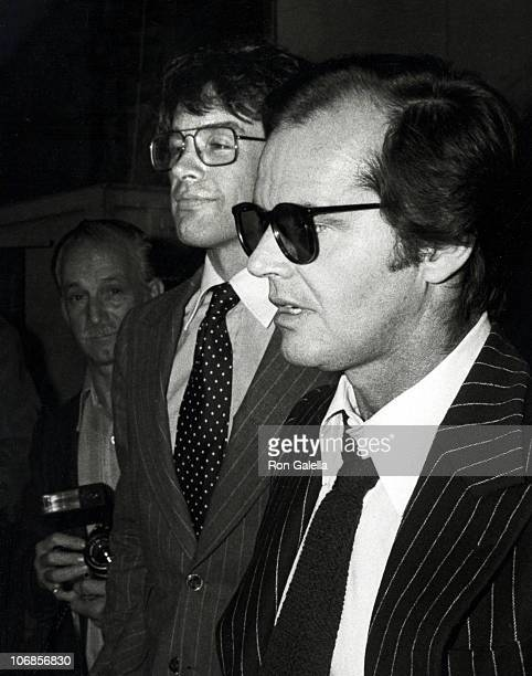 Warren Beatty and Jack Nicholson during Mabel Mercer in Concert at the Dorothy Chandler Pavillion in Los Angeles March 21 1978 at Dorothy Chandler...
