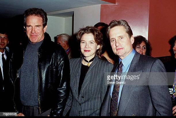 Warren Beatty Annette Bening and Michael Douglas