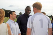 Warren Brown Idris Elba and Prince Harry attend day 2 of the Audi Polo Challenge at Coworth Park Polo Club on August 4 2013 in Ascot England