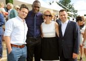 Warren Brown Idris Elba Katrin Sander and Managing Director of Audi UK Martin Sander attend day 2 of the Audi Polo Challenge at Coworth Park Polo...
