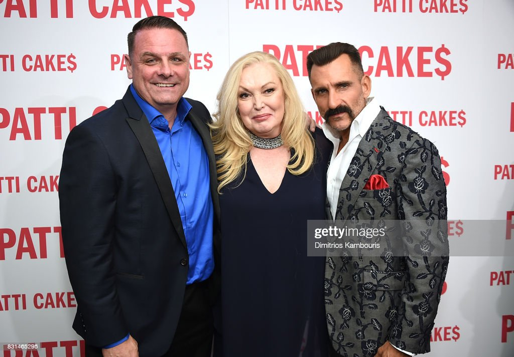 Warren Bub, Cathy Moriarty and Wass Stevens attend the 'Patti Cake$' New York Premiere at The Metrograph on August 14, 2017 in New York City.