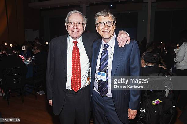 Warren Buffett and Bill Gates attend the Forbes' 2015 Philanthropy Summit Awards Dinner on June 3 2015 in New York City