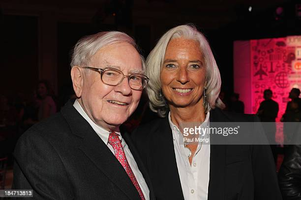 Warren Buffett and Managing Director of the IMF Christine Lagarde attend the FORTUNE Most Powerful Women Summit on October 15 2013 in Washington DC