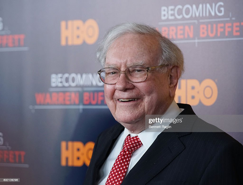 Warren Buffett attends 'Becoming Warren Buffett' World premiere at The Museum of Modern Art on January 19, 2017 in New York City.