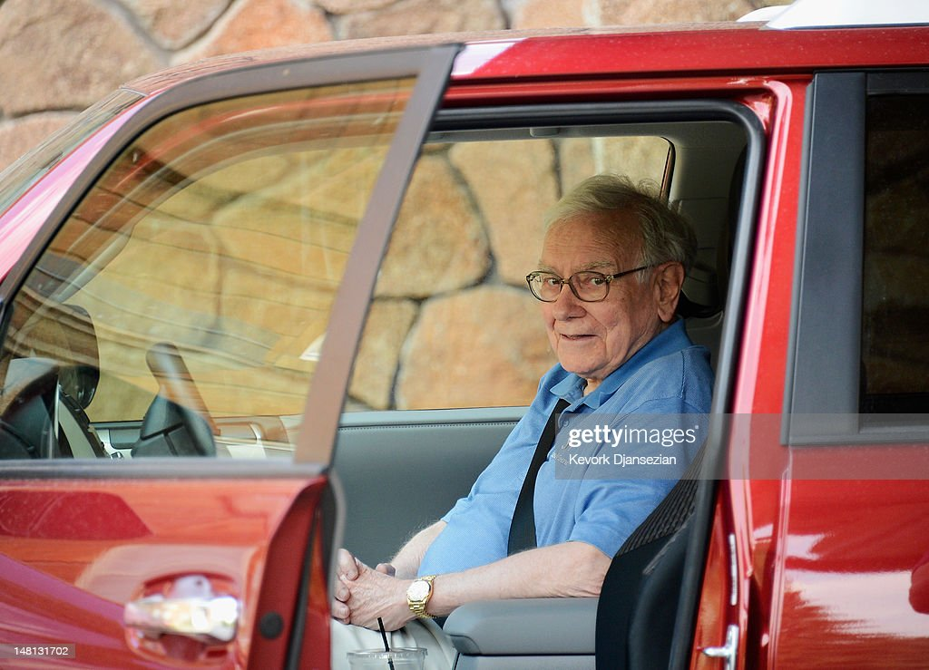 <a gi-track='captionPersonalityLinkClicked' href=/galleries/search?phrase=Warren+Buffet&family=editorial&specificpeople=533069 ng-click='$event.stopPropagation()'>Warren Buffet</a>t, chairman and CEO of Berkshire Hathaway, arrives for the Allen & Company Sun Valley Conference on July 10, 2012 in Sun Valley, Idaho. Bill Gates and Mark Zuckerberg have been invited to attend the conference which begins Tuesday.