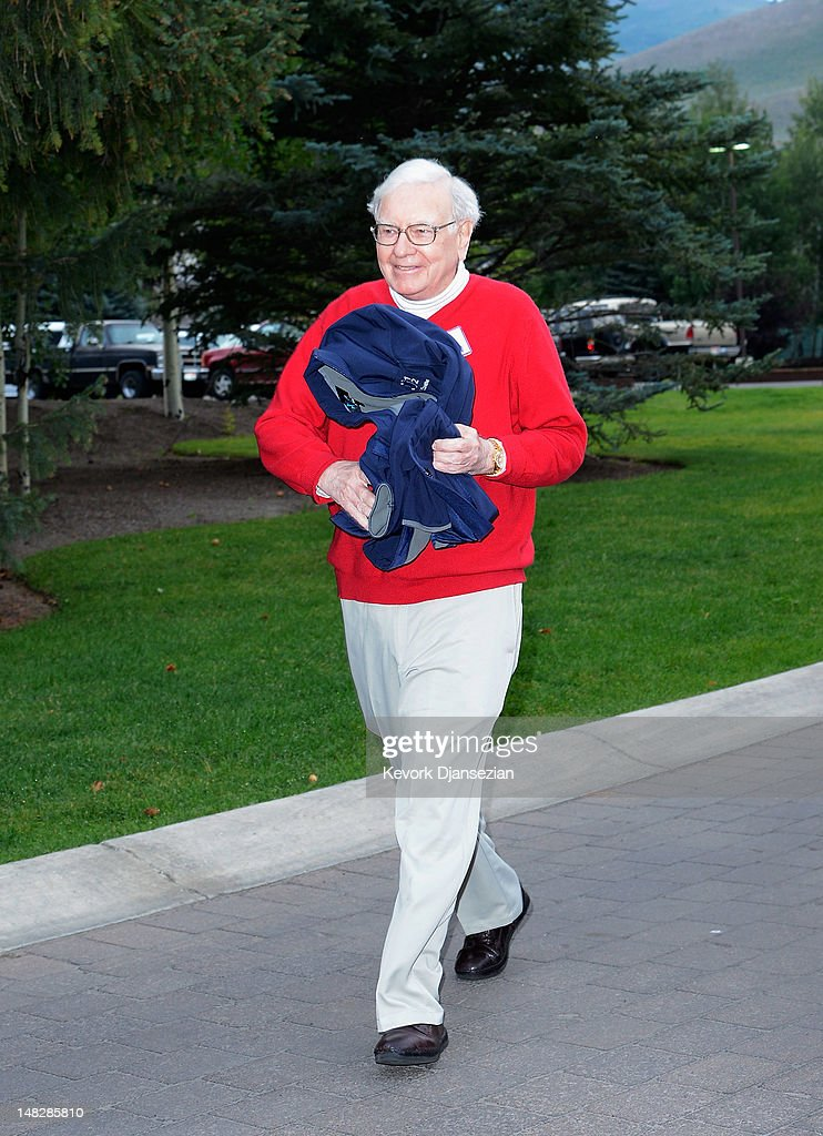 <a gi-track='captionPersonalityLinkClicked' href=/galleries/search?phrase=Warren+Buffet&family=editorial&specificpeople=533069 ng-click='$event.stopPropagation()'>Warren Buffet</a>t, chairman and CEO of Berkshire Hathaway, attends the Allen & Company Sun Valley Conference on July 13, 2012, in Sun Valley, Idaho. The conference has been hosted annually by the investment firm Allen & Company each July since 1983. The conference is typically attended by many of the world's most powerful media executives.