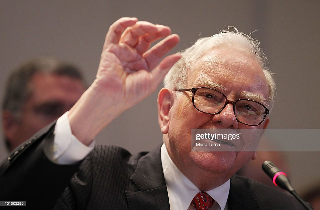 Warren Buffett, Chairman and CEO of Berkshire Hathaway, testifies before the Financial Crisis Inquiry Commission (FCIC) at The New School June 2, 2010 in New York City. The bipartisan committee was created by Congress and is investigating the causes of the financial crisis.