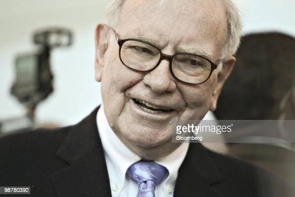 Warren Buffett chief executive officer of Berkshire Hathaway tours the exhibition floor prior to the Berkshire Hathaway annual meeting in Omaha...