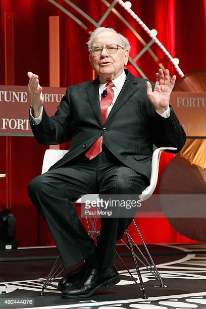 Warren Buffett speaks onstage during Fortune's Most Powerful Women Summit Day 2 at the Mandarin Oriental Hotel on October 13 2015 in Washington DC