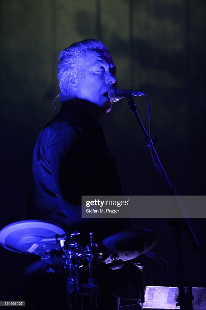Warren Cann of Ultravox performs on stage at Kesselhaus on October 29, 2012 in Munich, Germany.