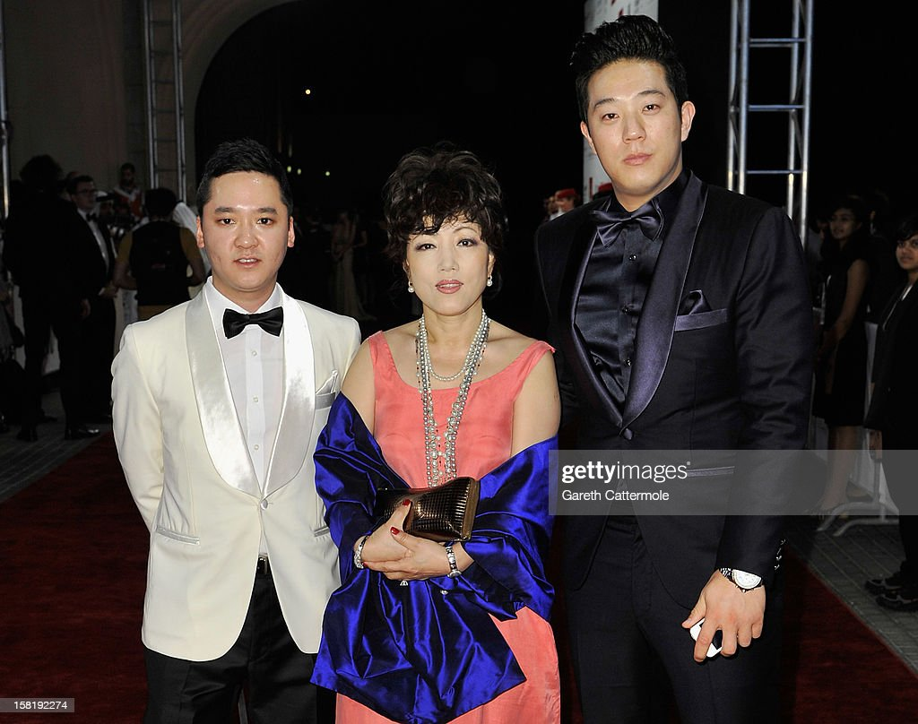 Warren Chang, Erica Yoon and Jay Kim attend the 'Life of PI' Opening Gala during day one of the 9th Annual Dubai International Film Festival held at the Madinat Jumeriah Complex on December 9, 2012 in Dubai, United Arab Emirates.
