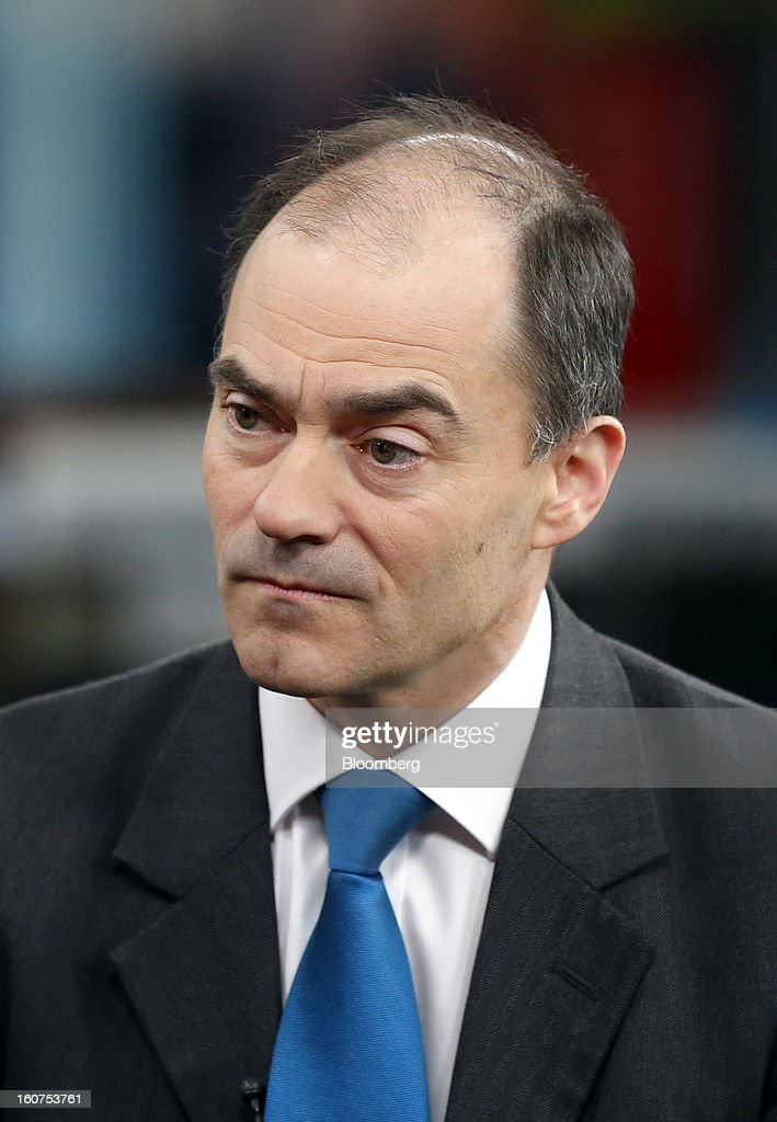 Warren East, chief executive officer of ARM Holdings Plc, pauses during a Bloomberg Television interview in London, U.K., on Tuesday, Feb. 5, 2013. ARM Holdings Plc, whose chip designs power Apple Inc.'s iPhone and iPad, reported fourth-quarter sales that rose more than analysts predicted as demand for smartphones and tablets surged. Photographer: Simon Dawson/Bloomberg via Getty Images