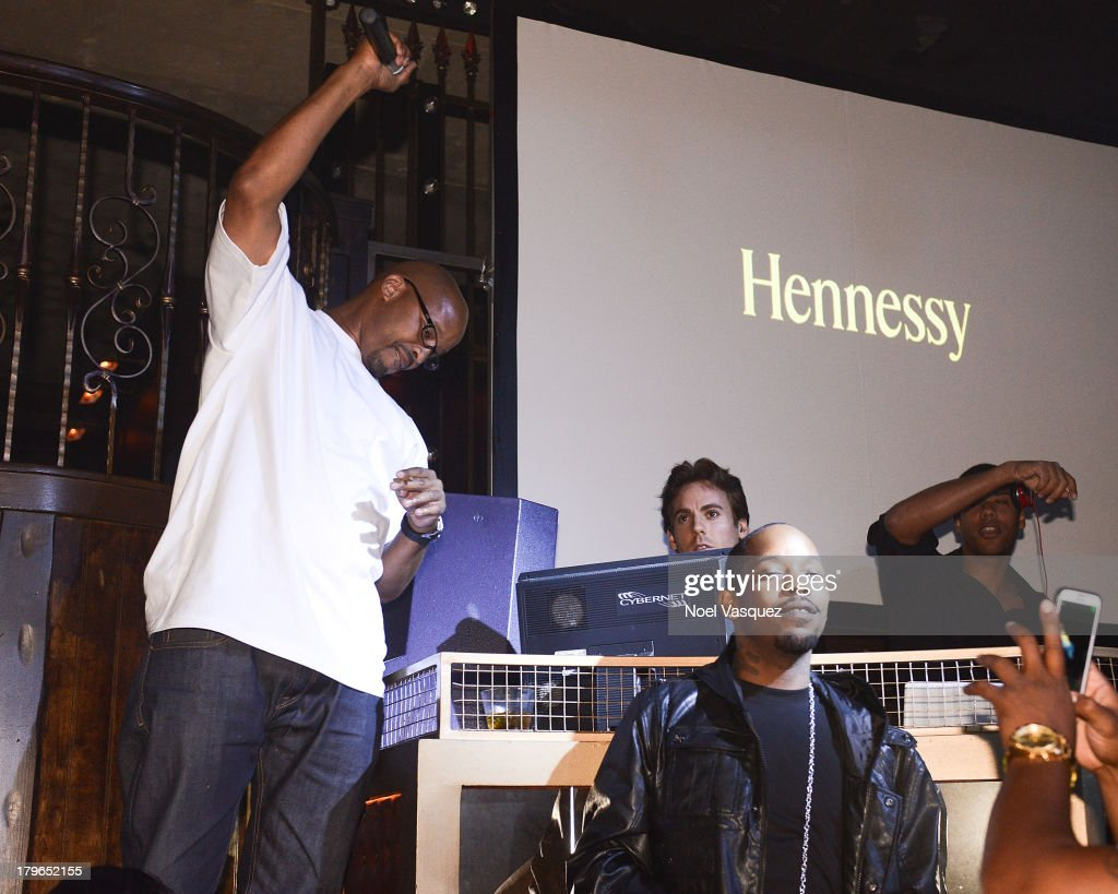 Warren G performs at the Hennessy OS GEMEOS Los Angeles launch at The Emerson Theatre on September 5, 2013 in Hollywood, California.