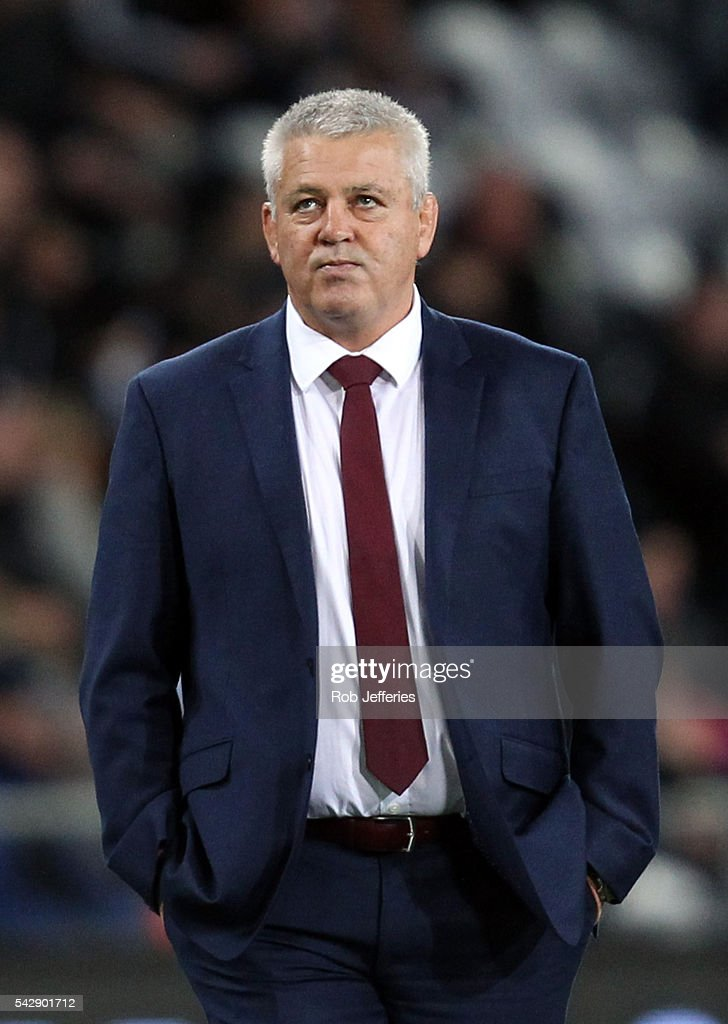 <a gi-track='captionPersonalityLinkClicked' href=/galleries/search?phrase=Warren+Gatland&family=editorial&specificpeople=686626 ng-click='$event.stopPropagation()'>Warren Gatland</a>, coach of Wales prior to the International Test match between the New Zealand All Blacks and Wales at Forsyth Barr Stadium on June 25, 2016 in Dunedin, New Zealand.