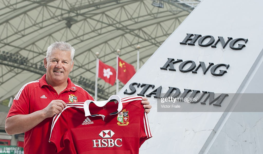 Warren Gatland, head coach of the British & Irish Lions poses for pictures during an HSBC photo call at the Hong Kong Stadium on January 15, 2013 in Hong Kong. The British & Irish Lions play the first match of their 2013 Tour against the Barbarians on 1st June 2013 in Hong Kong. HSBC is proud Principal Partner of The British & Irish Lions.