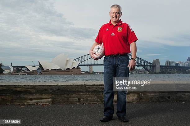 Warren Gatland Head Coach of The British Irish Lions visits Sydney with HSBC Principal Partner of The British Irish Lions at Mrs Macquarie's Chair on...