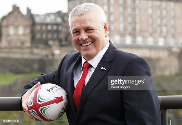 Warren Gatland is announced as the Head Coach of the British Irish Lions for the 2017 Tour to New Zealand during the British and Irish Lions Press...