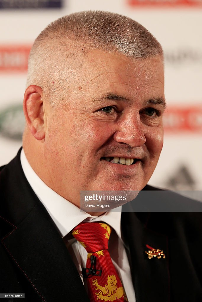 Warren Gatland the British and Irish Lions Head Coach arrives during the 2013 British and Irish Lions tour squad and captain announcement at London Syon Park Hotel on April 30, 2013 in London, England.