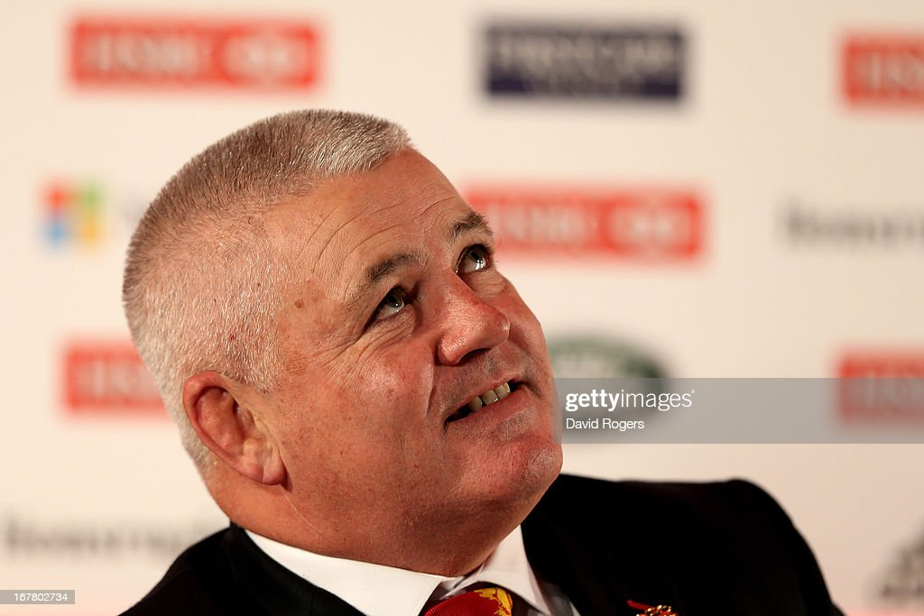 Warren Gatland the British and Irish Lions Head Coach attends the 2013 British and Irish Lions tour squad and captain announcement at London Syon Park Hotel on April 30, 2013 in London, England.