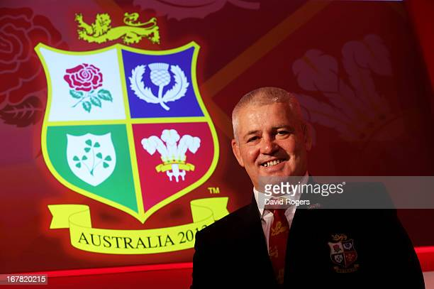 Warren Gatland the British and Irish Lions Head Coach poses for the cameras the 2013 British and Irish Lions tour squad and captain announcement at...