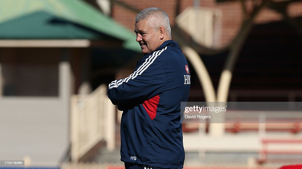 Warren Gatland, the Lions head coach looks on during the British and Irish Lions training session at North Sydney Oval on June 13, 2013 in Sydney, Australia.