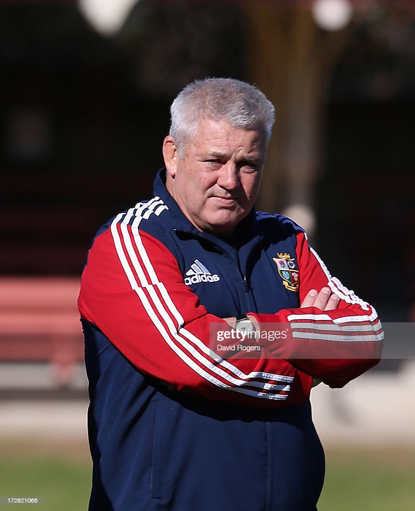 Warren Gatland, the Lions head coach looks on during the British and Irish Lions Captain's Run at North Sydney Oval on July 5, 2013 in Sydney, Australia.